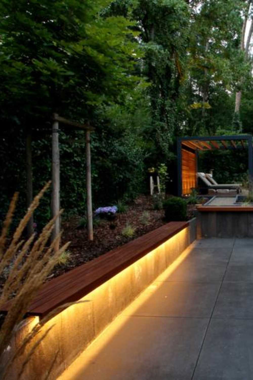 Gartenbank Indirekt Beleuchten In 2021 Beleuchtung Garten Gartengestaltung Garten