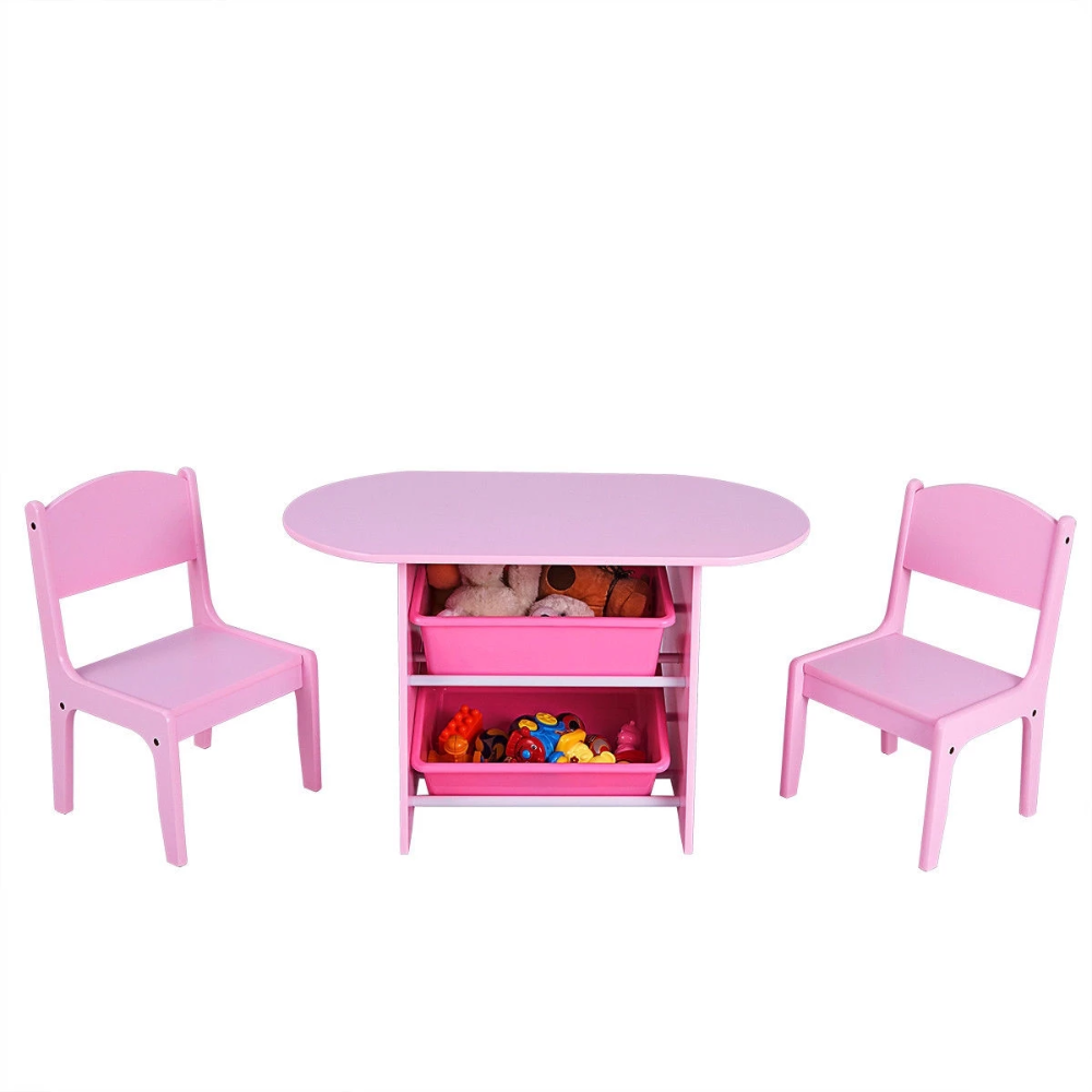 Kids Table And 2 Chairs Set With Storage Boxes Hodge Podgefurnishings Study Table And Chair Kid Table Kids Study Table