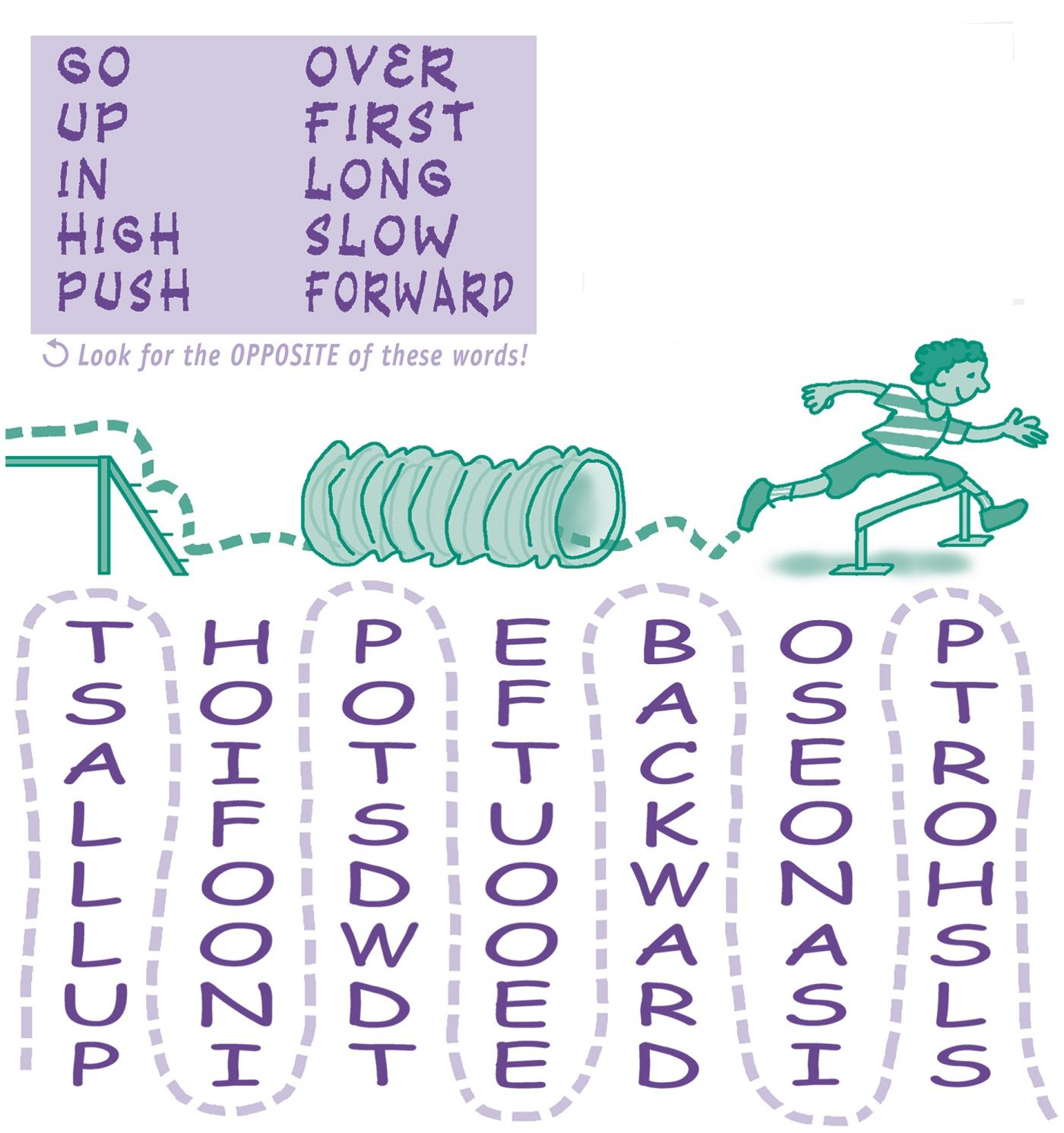 Easy Word Search For Kids Printable