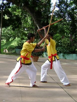 2 Silambam Fighters