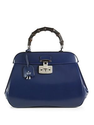 Lady Lock Leather Top Handle Bag $2590.0 by Saks Fifth Avenue