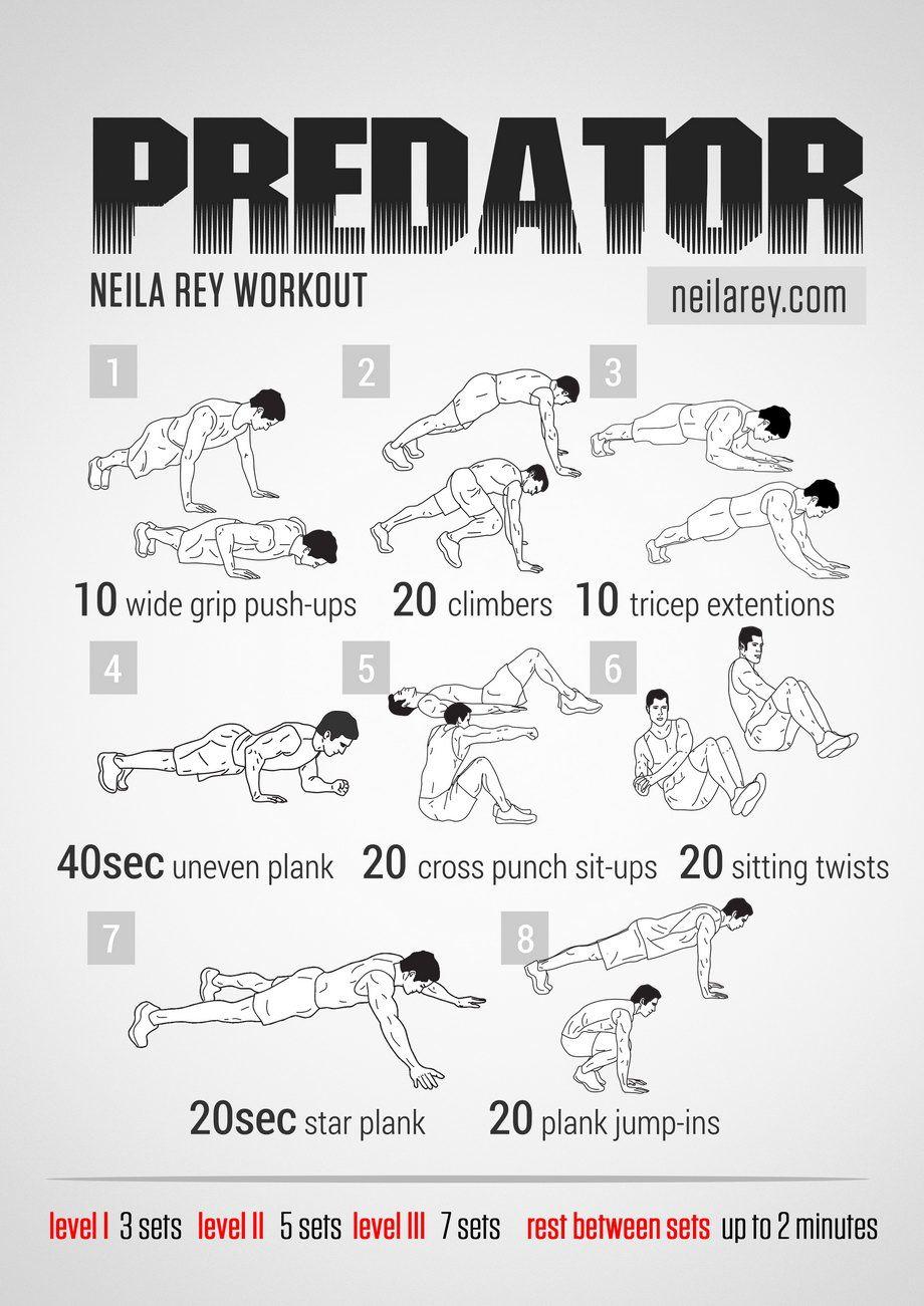 Predator Workout  cardio  Pinterest  Batman and Workout
