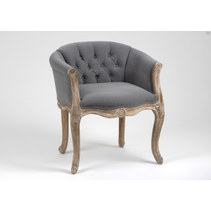 fauteuil cabriolet capitonn gris amadeus ideas for my home dining chair makeover classic. Black Bedroom Furniture Sets. Home Design Ideas