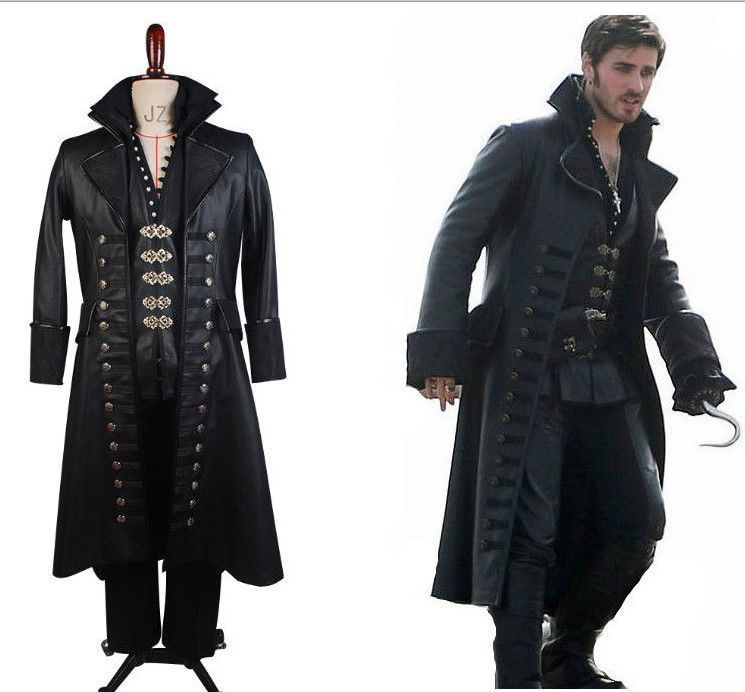 Once Upon A Time Captain Hook Killian Jones Cosplay Costume Attire Outfit