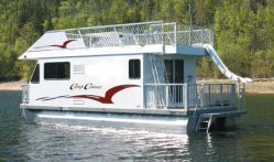Small Houseboat this is a small houseboat or shantyboat designed by h bryan Camp Cruiser 31 Fiberglass Houseboat