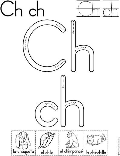 letra ch fichas del abecedario y el alfabeto para descargar gratis ...