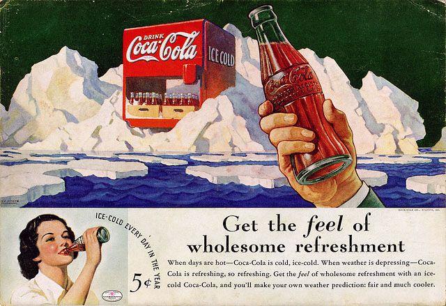 Pin Op Coca Cola Retro Adverts