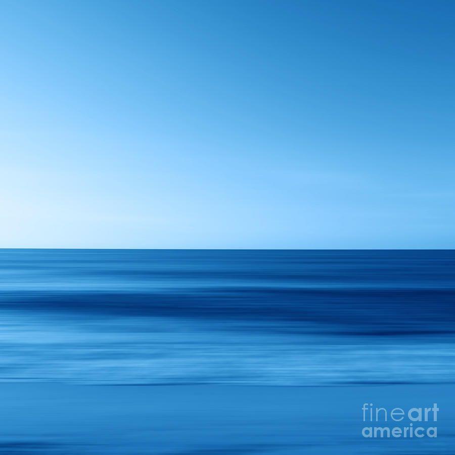 Sky Photograph - Seascapeblue - Horizon by Steffi Louis