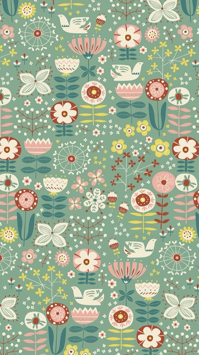 Love this vintage looking folkloric floral and such a ...