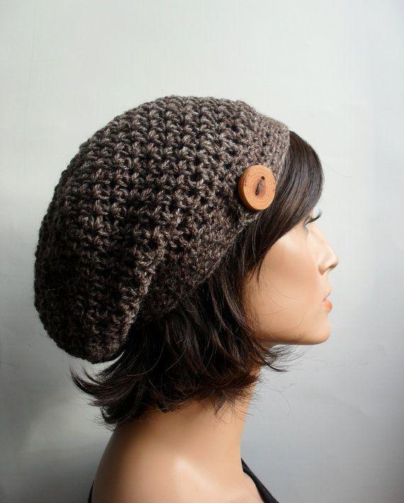 Crochet Slouchy Beanie Hat  Handmade Hat  by TheArtofZenCrochet, $34.00
