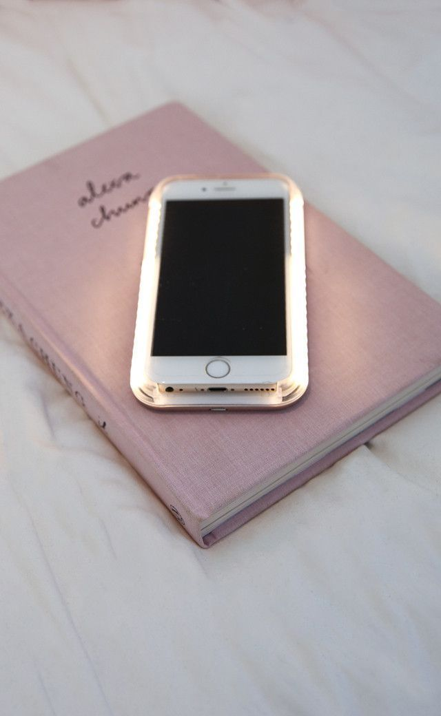 light up selfie lighting iphone cover in rose gold 6 Black
