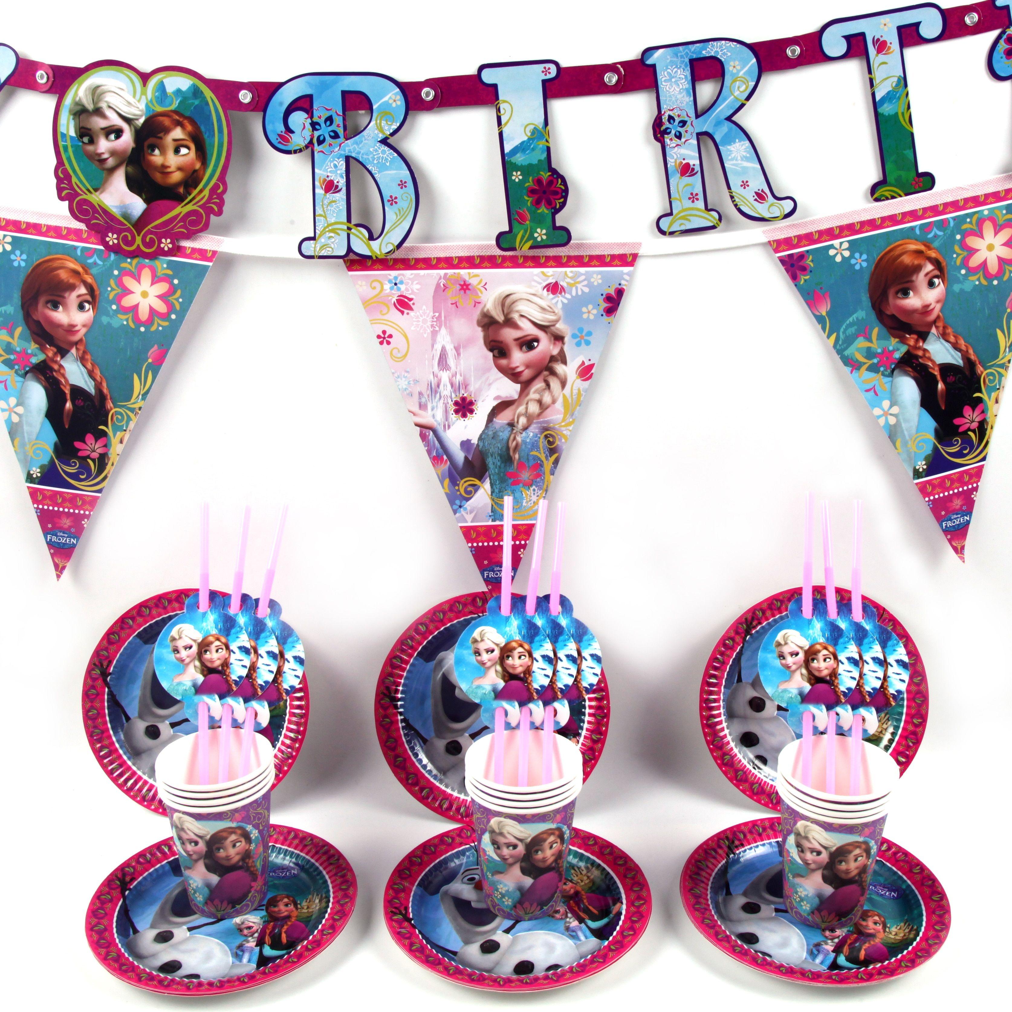 6 x Frozen  Party Themed Friendship Bracelets Kids Birthday Bag Favour Anna Elsa