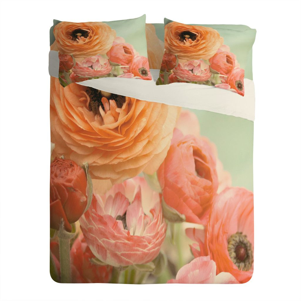 Bree Madden Spring Ranunculus Sheet Set Lightweight | DENY Designs Home Accessories