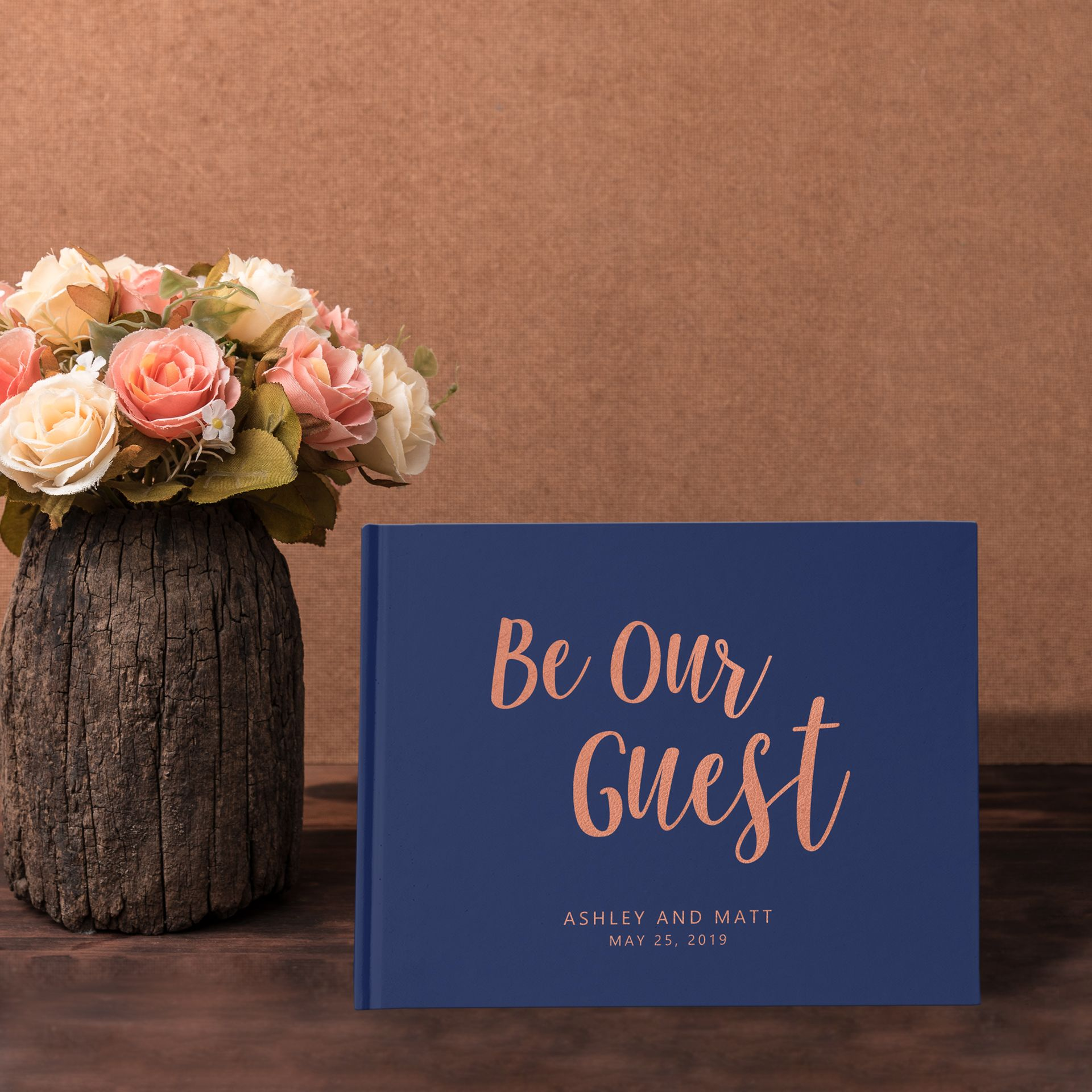 Blush Rose Gold /& Lilac Jenga Guest Book Personalised Wedding Sign