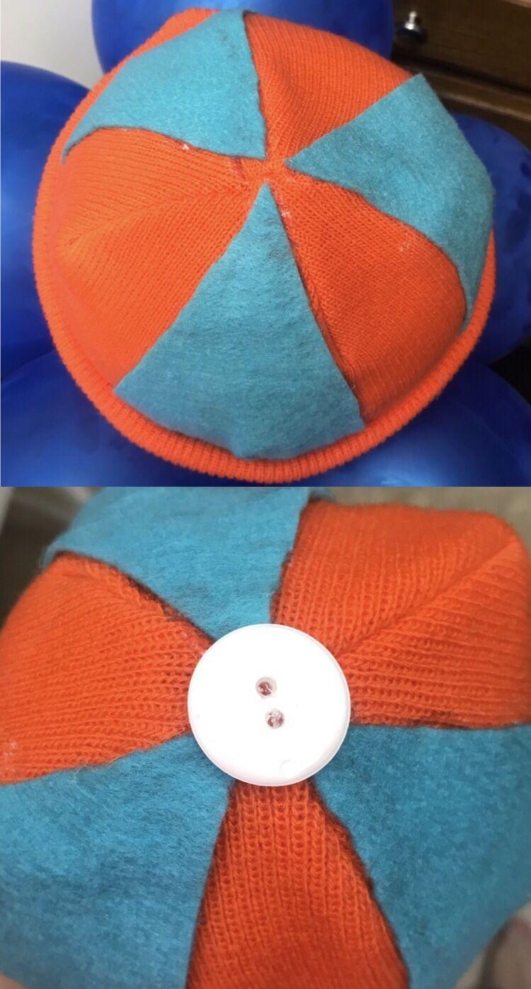 73e51a28f2cb8 Blippi Felt Hat Beret DIY – Large Size – Crazy for D.I.Y.
