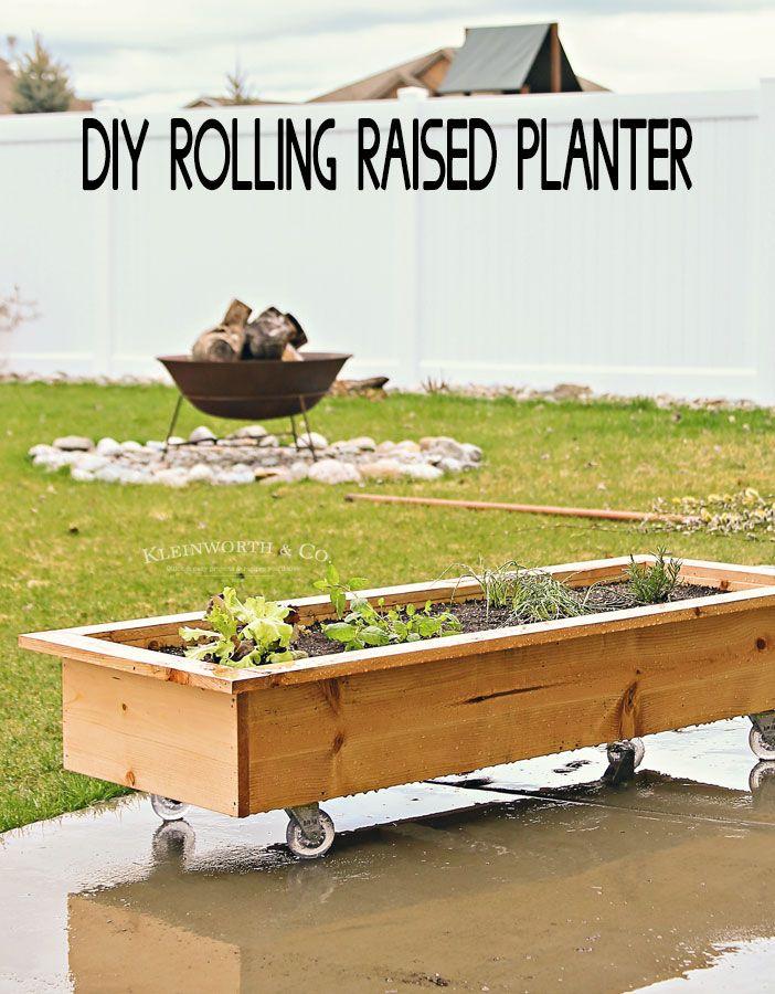 Above Ground Garden Ideas Diy Rolling Planter Box By 400 x 300