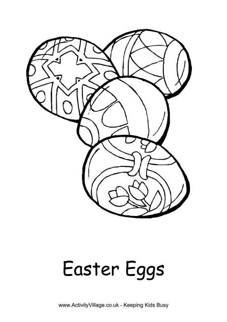 Easter Eggs Colouring Page Click Through To The Website For Printable