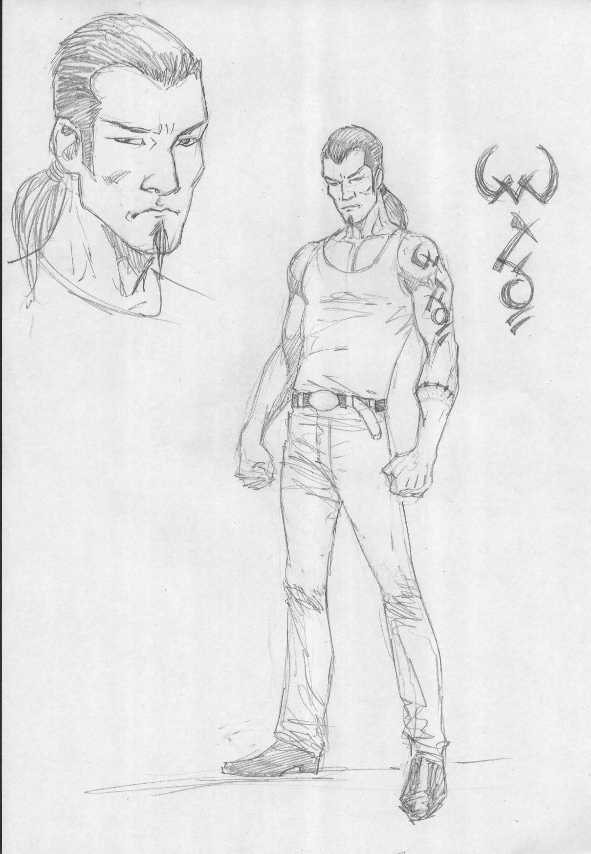 Character design from '12 by Ron Adrian of Ulysses Sanchez