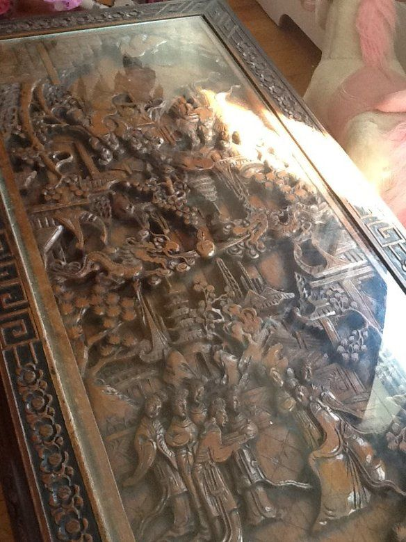 Chinese Hand Carved Coffee Table