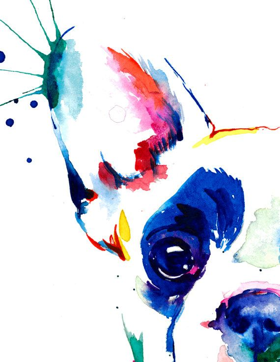 French Bulldog Frenchie Art Print Print Of Original Watercolor
