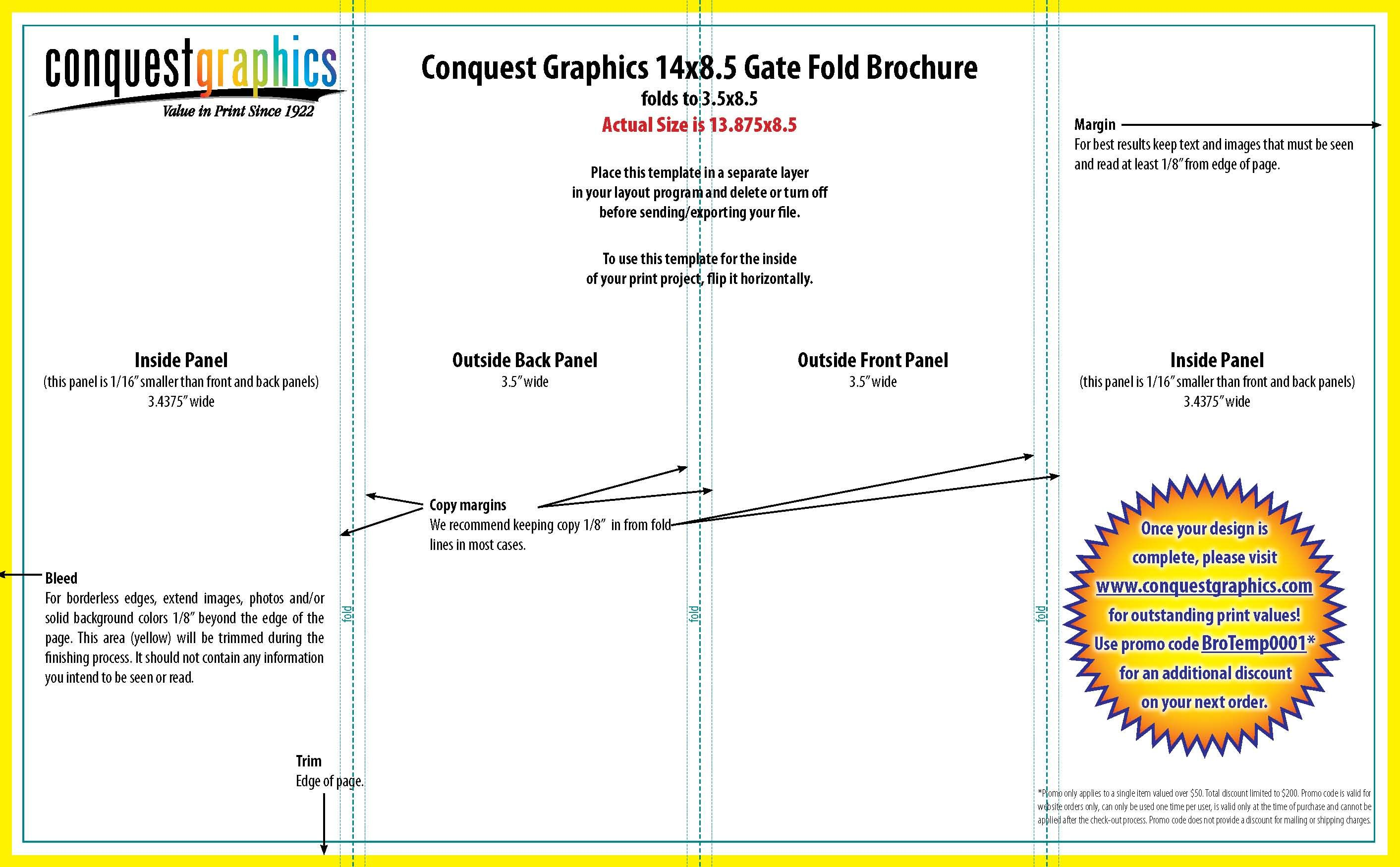 Gate fold brochure template | Informative | Pinterest
