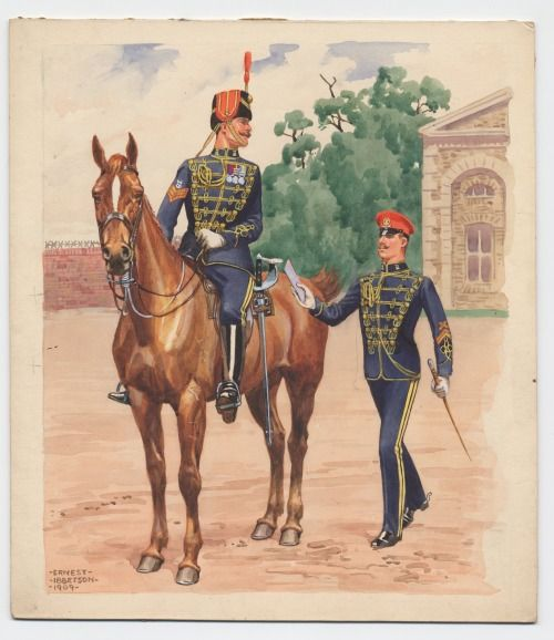 15th (The King's) Hussars, by Ernest Ibbetson, 1900-1910.