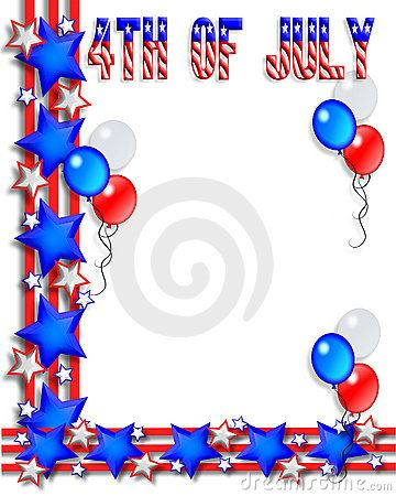 4th Of July Border 4th Of July Fourth Of July Stock Images Free