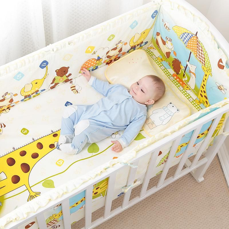 5pc Cotton Baby Cot Bedding Set Newborn Baby Crib Bedding Setbed