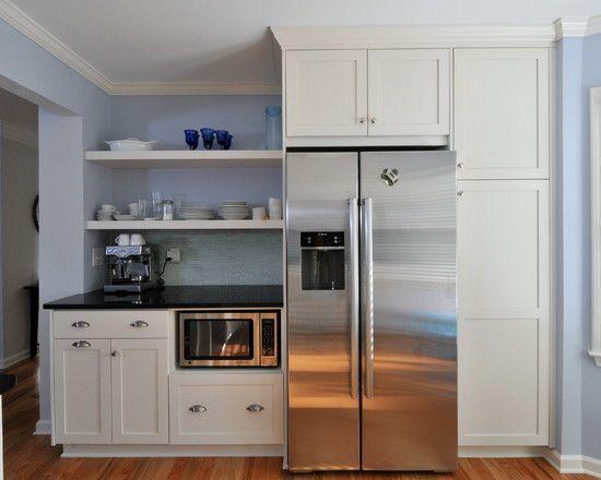 refrigerator cabinet kitchen cabinets