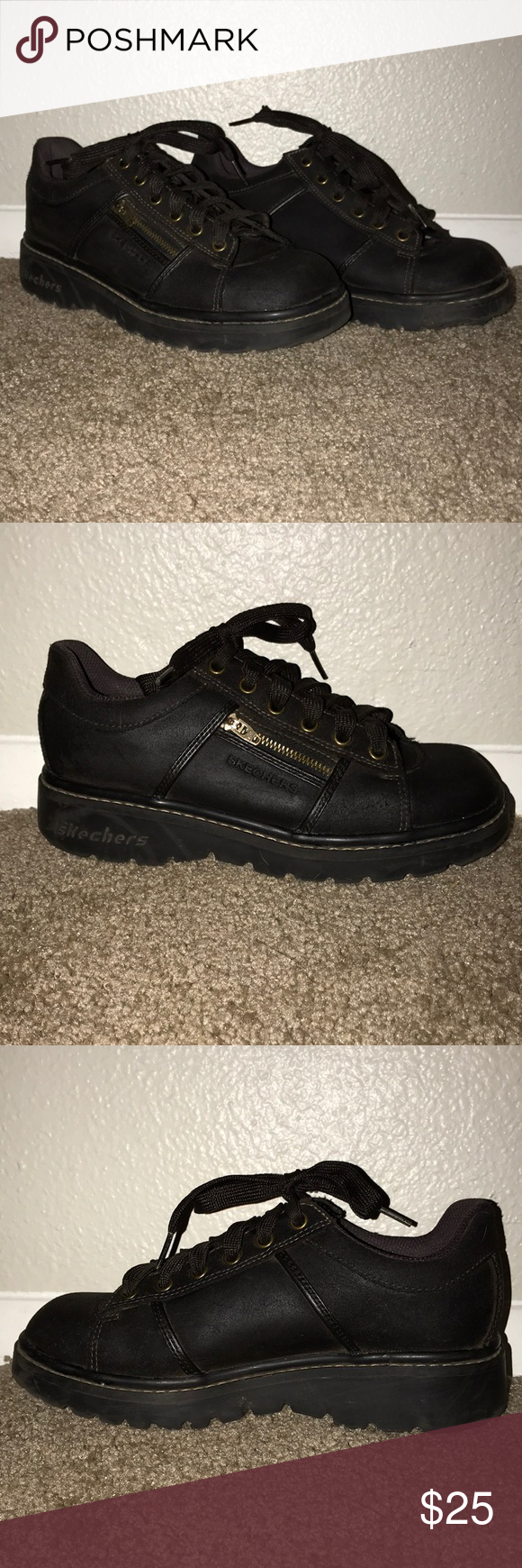 Vintage Skechers Brown Leather Shoes