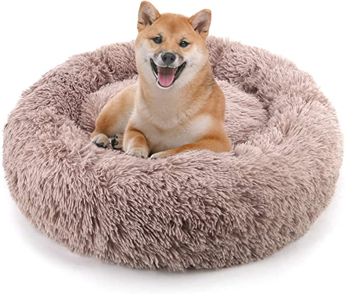 Amazon Com Noyal Donut Dog Cat Bed Soft Plush Pet Cushion Anti