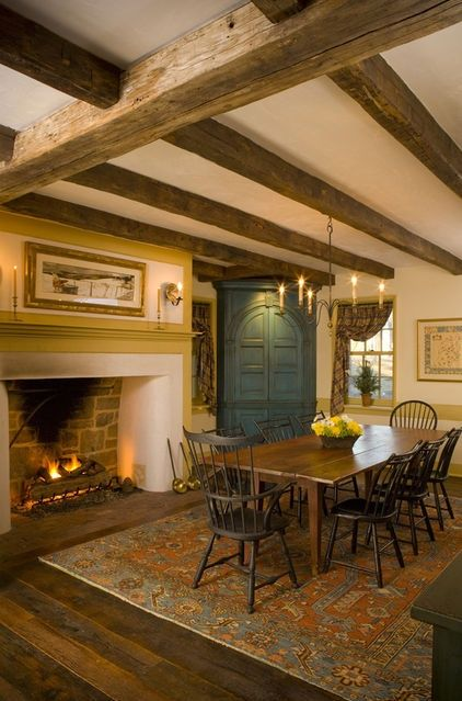 Fabulous Early American Dining Room Content In A Cottage