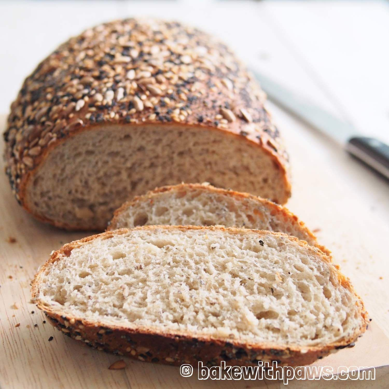 Rye Bread Rye Bread With Chia Seed Rye Bread Seeded Rye Bread Recipe Baking Bread Recipes
