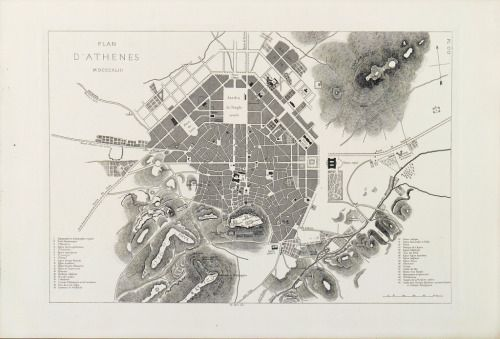 Plan D Athenes 1843 The Power Of Maps Map Old Maps Athens
