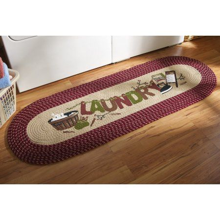 Collections Etc Vintage Laundry Room Decorative Braided ...