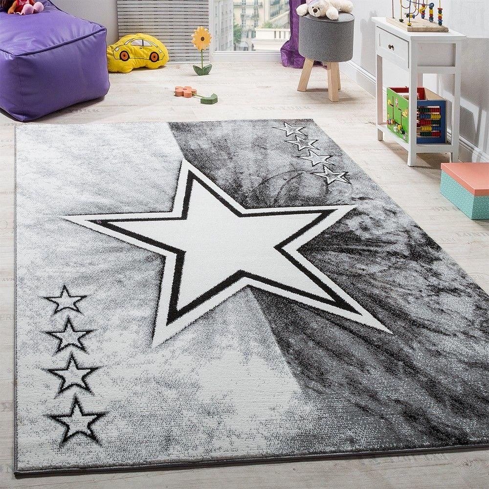 Cool Kinderteppich Referenz Von Teppich Kinderzimmer Stern Design Spielteppich Kurzflor In
