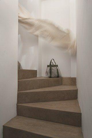 sandfarbene betontreppe mehr infos unter treppen fugenlos in. Black Bedroom Furniture Sets. Home Design Ideas