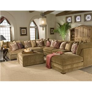 Casbah Transitional U Shaped Sectional Sofa By King Hickory Darvin Furniture Orland
