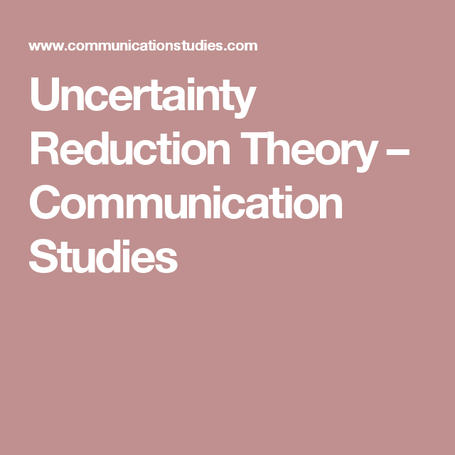 uncertainty reduction theory communication