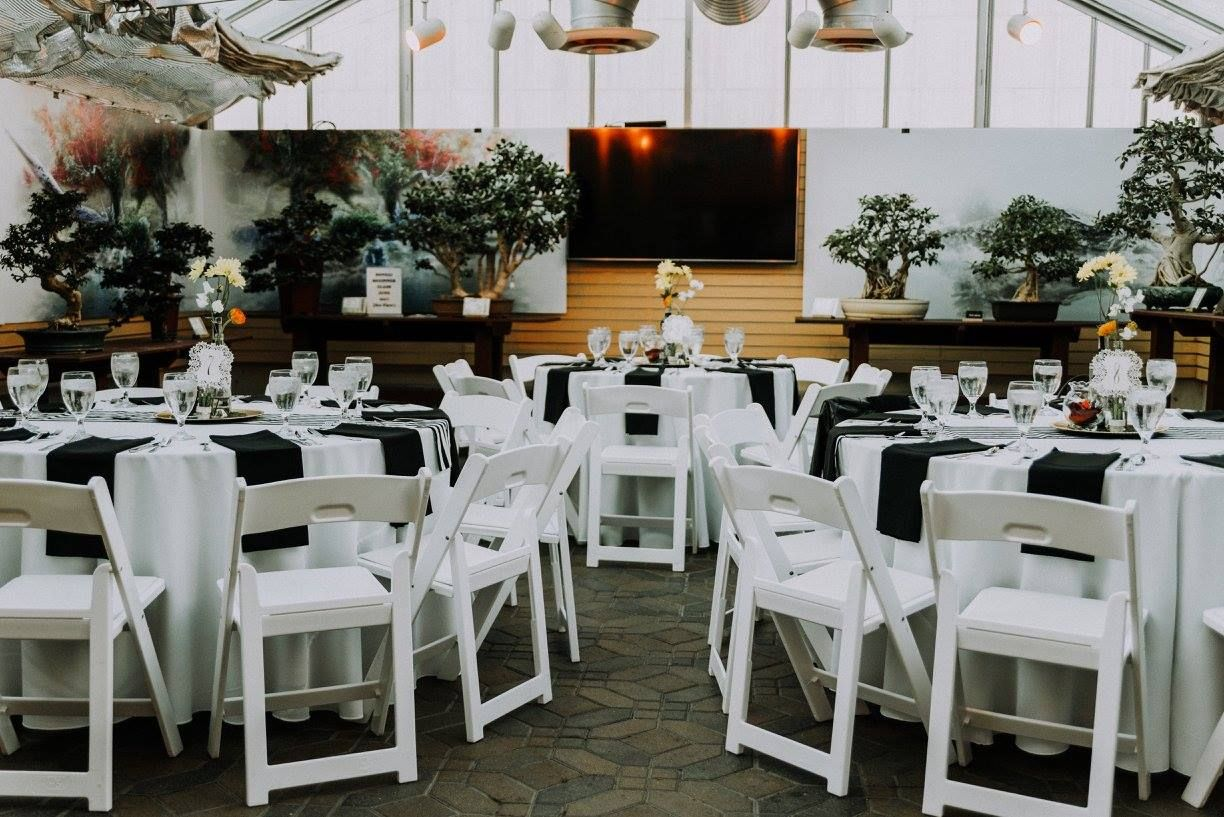 White Formal Event Rental Take A Seat Table Settings