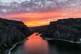 Snake river sunset