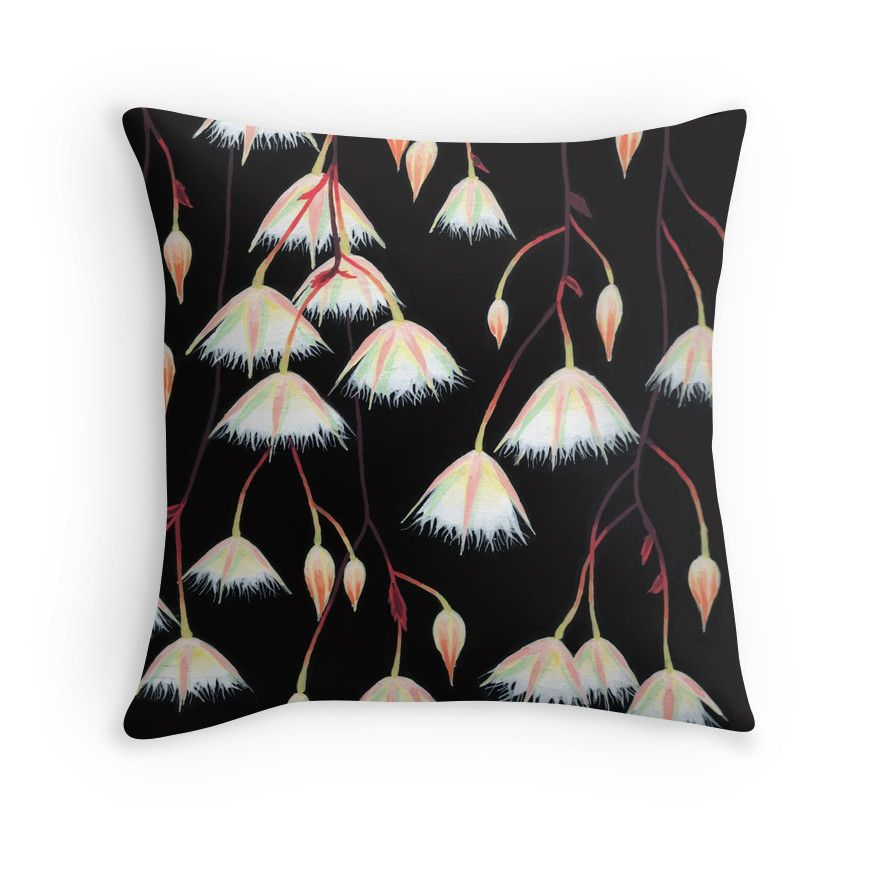 """Elaeocarpus, acrylic art"" Throw Pillows by ptitsa-tsatsa 