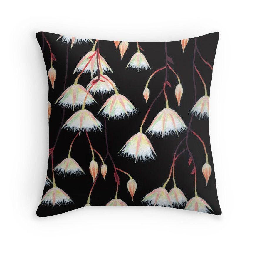 """Elaeocarpus, acrylic art"" Throw Pillows by ptitsa-tsatsa | Redbubble"