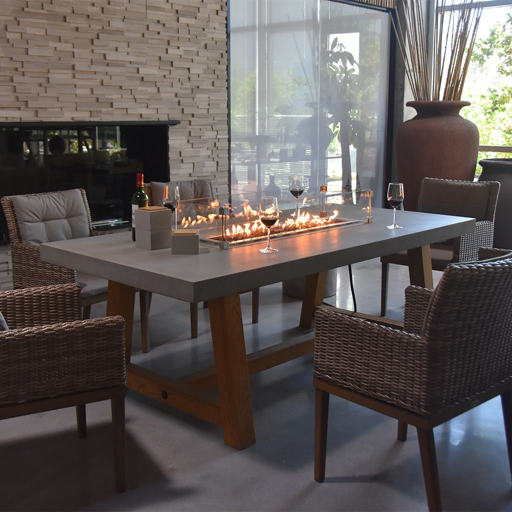 Elementi Sonoma Dining Table In 2020 Dining Table In Kitchen Concrete Top Dining Table Dining Table