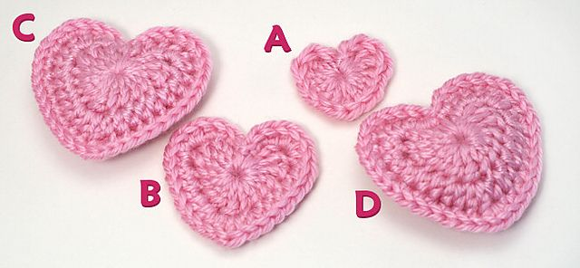 Ravelry Love Hearts Pattern By June Gilbank Free Crochet