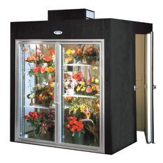 Two Door Floral Display Cooler With Rear Walk In Storage Flower Shop Design Flower Shop Decor Flower Shop Display
