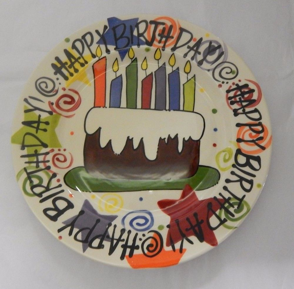 Happy Birthday Cake Plate By Magnolia Lane Collection