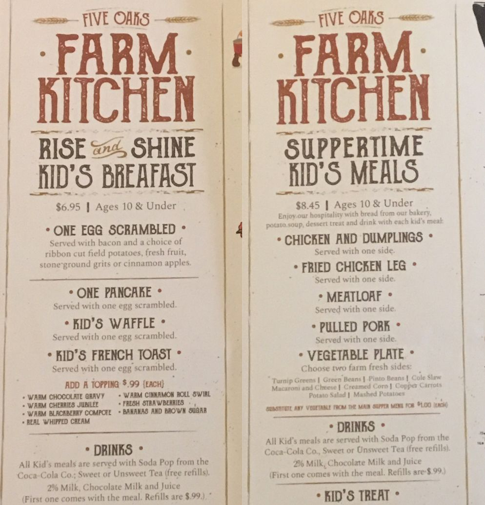 All The Details On The Five Oaks Farm Kitchen Menu And Restaurant