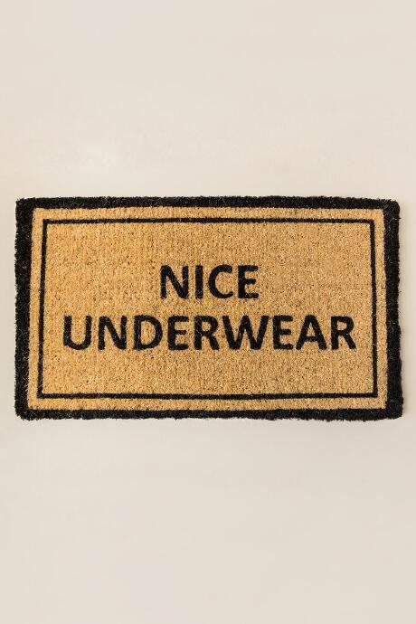 Nice Underwear Door Mat Hahah This Is Great Funny