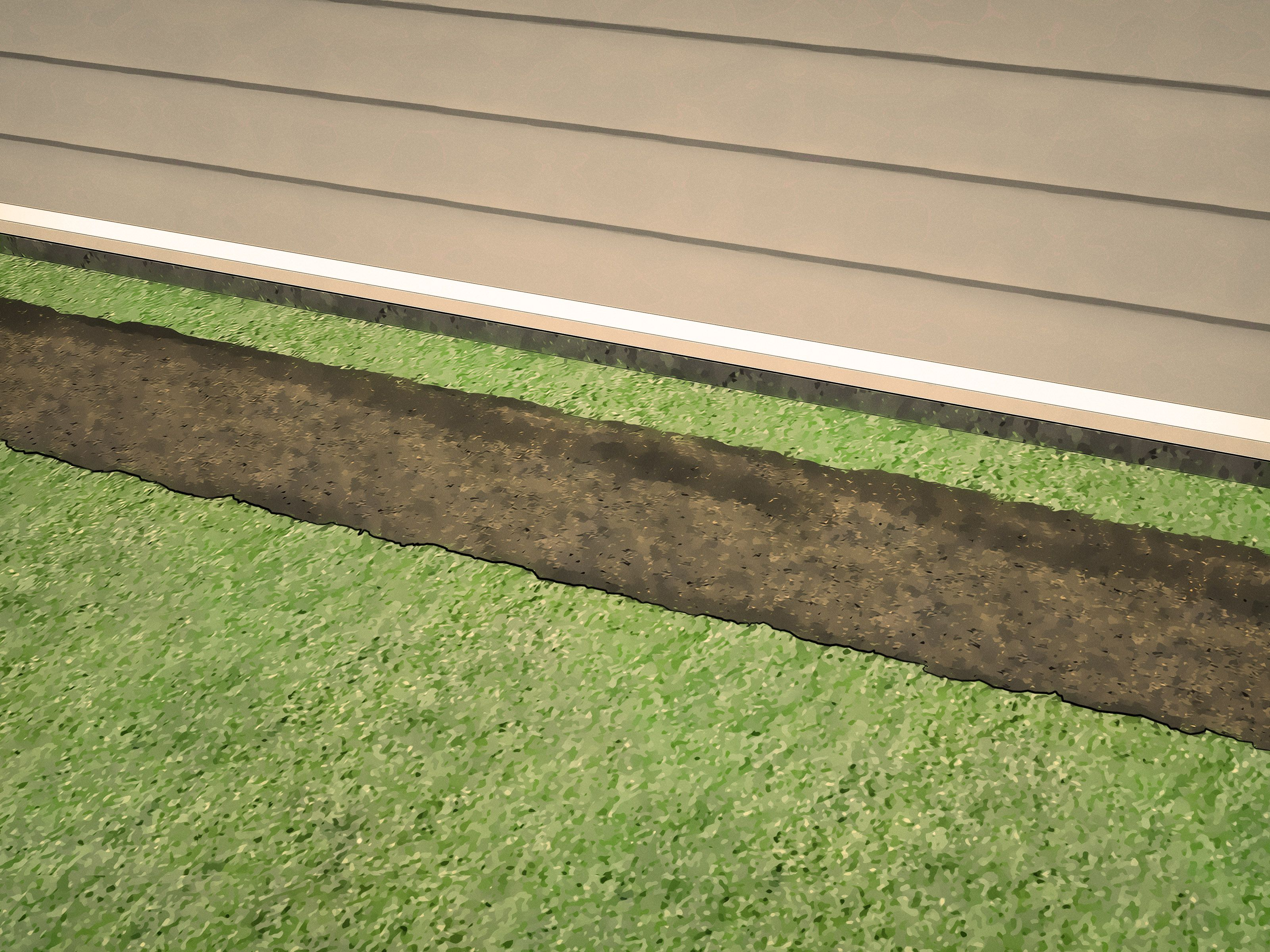 Build a French Drain French drain, Wood fence post, Rock